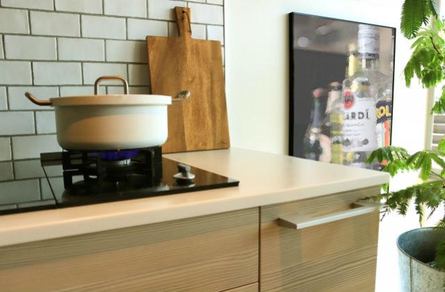 キッチンにある鍋